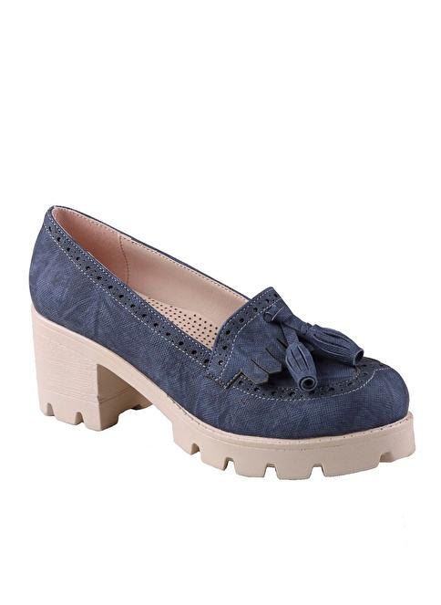 İnce Topuk Ayakkabı Mavi
